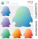qq geometric polygonal icons ... | Shutterstock .eps vector #1168535572