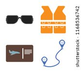 set of 4 vector icons such as... | Shutterstock .eps vector #1168536742