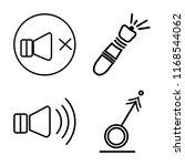 set of 4 vector icons such as... | Shutterstock .eps vector #1168544062