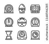 kitchen timer icon set. outline ...   Shutterstock .eps vector #1168546285