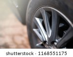 wheels alloy and black tires...   Shutterstock . vector #1168551175