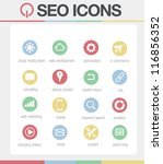 seo icons vector set 2 | Shutterstock .eps vector #116856352