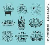 set of 9 christmas inscriptions ...   Shutterstock .eps vector #1168582342