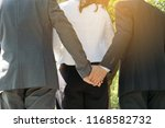 cheeky love of three people... | Shutterstock . vector #1168582732