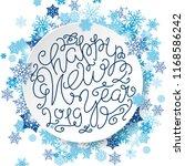 merry christmas lettering.... | Shutterstock .eps vector #1168586242