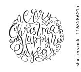 merry christmas and happy new... | Shutterstock .eps vector #1168586245