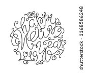 happy new year lettering... | Shutterstock .eps vector #1168586248