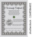 grey retro warranty template....   Shutterstock .eps vector #1168586602