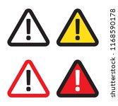 danger sign  warning sign ... | Shutterstock .eps vector #1168590178