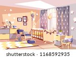 modern newborn kid or nursery... | Shutterstock .eps vector #1168592935