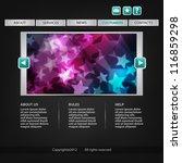 website template   Shutterstock .eps vector #116859298