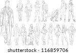 fashion people outline   vector ... | Shutterstock .eps vector #116859706
