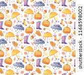 handdrawn seamless pattern with ... | Shutterstock . vector #1168598002