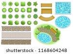 landscape  garden elements.... | Shutterstock .eps vector #1168604248