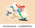 well known fairy tale character ... | Shutterstock .eps vector #1168605022