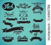 retro grunge design elements....   Shutterstock .eps vector #116860786