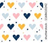 abstract handmade seamless... | Shutterstock .eps vector #1168610242