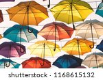 street decoration with colorful ... | Shutterstock . vector #1168615132