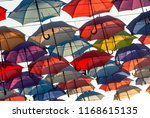 street decoration with colorful ... | Shutterstock . vector #1168615135