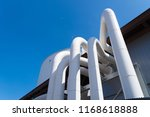 group of pipes coming out of a... | Shutterstock . vector #1168618888