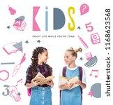 Schoolchildren Holding Open Books Looking - Fine Art prints