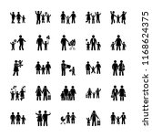 type of families glyph vector... | Shutterstock .eps vector #1168624375