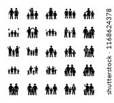happy family vector icons  | Shutterstock .eps vector #1168624378