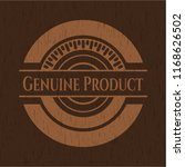 genuine product wood icon or... | Shutterstock .eps vector #1168626502