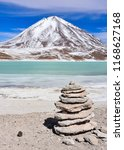 a rock pile stands in front of... | Shutterstock . vector #1168627168