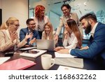 young creative managers team... | Shutterstock . vector #1168632262