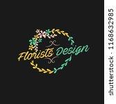 florist flower design in vector ...   Shutterstock .eps vector #1168632985