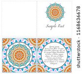 vintage invitation card with... | Shutterstock .eps vector #1168636678