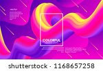 wave flow shape. abstract 3d... | Shutterstock .eps vector #1168657258