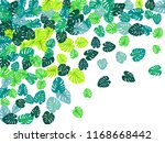 turquoise tropical jungle...   Shutterstock .eps vector #1168668442