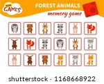 memory game for preschool... | Shutterstock .eps vector #1168668922