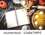 autumn baking background ... | Shutterstock . vector #1168674895