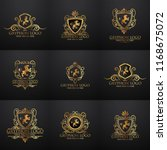 crests logo set. vector... | Shutterstock .eps vector #1168675072