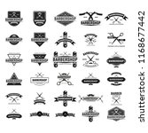 set of vintage barber shop...   Shutterstock .eps vector #1168677442