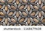 3d wood tiles with silver matte ... | Shutterstock . vector #1168679638