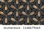 3d black foliage tiles with... | Shutterstock . vector #1168679665