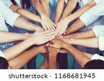 top view of people in circle... | Shutterstock . vector #1168681945