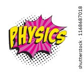 word physics in colorful retro... | Shutterstock .eps vector #1168687018