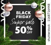 black friday sale. vector flyer ...   Shutterstock .eps vector #1168716448