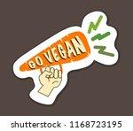 vegan inspirational poster with ... | Shutterstock .eps vector #1168723195