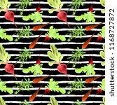watercolor vegan pattern.... | Shutterstock . vector #1168727872