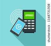 smartphone payment nfc device...   Shutterstock . vector #1168731508