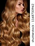beauty hair. beautiful woman... | Shutterstock . vector #1168733962
