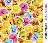 seamless pattern emoji fast... | Shutterstock .eps vector #1168734808