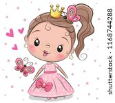 cute fairy tale princess on a... | Shutterstock .eps vector #1168744288