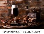 glass of irish coffee on a...   Shutterstock . vector #1168746595